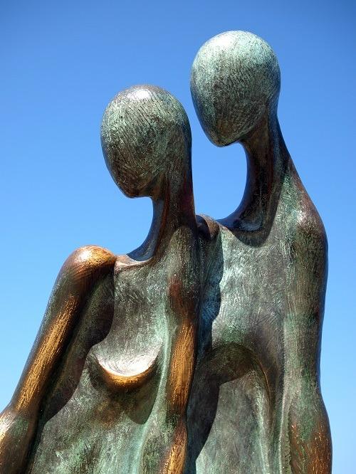 """La Nostalgia"" Sculpture at Puerto Vallarta's Malecon"