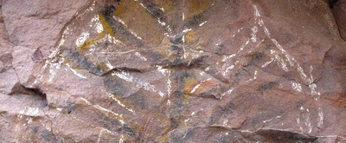 Cave Paintings Near The Islands of Loreto