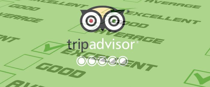 Awards and Reviews on TripAdvisor