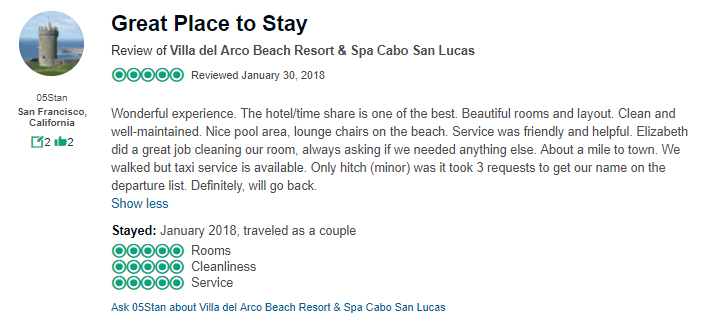 villa del arco timeshare reviews cabo san lucas