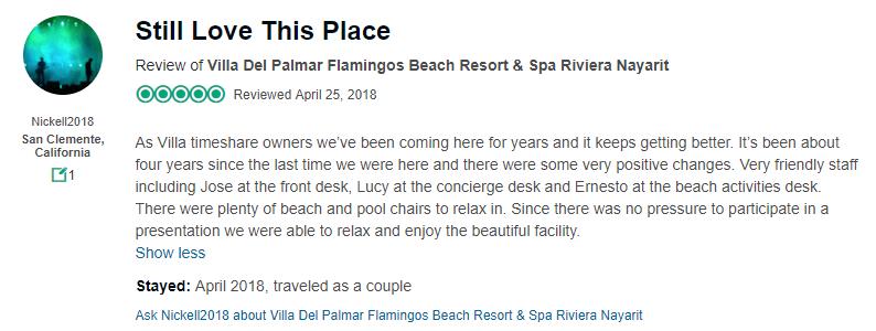 villa del palmar flamingos timeshare review